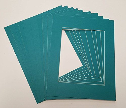 Teal 18x24 White Picture Mats with White Core for 13x19 Pictures - Fits 18x24 Frame
