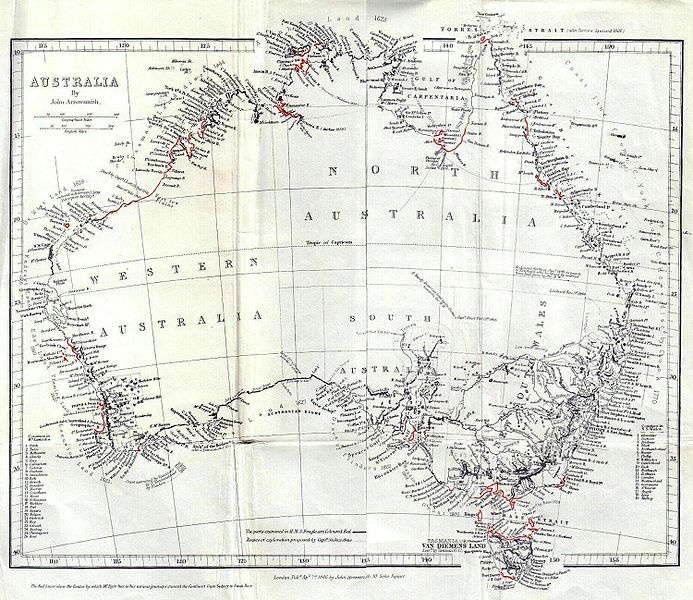 General Chart of Australia (Discoveries in Australia)