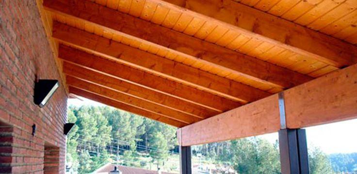 Terrazas con losas y vigas de madera buscar con google - Terrazas de madera ...