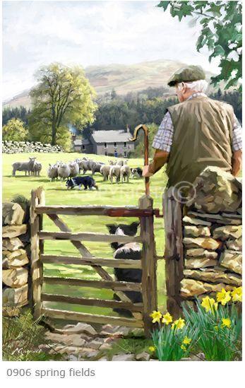 Spring Fields by Richard Macneil