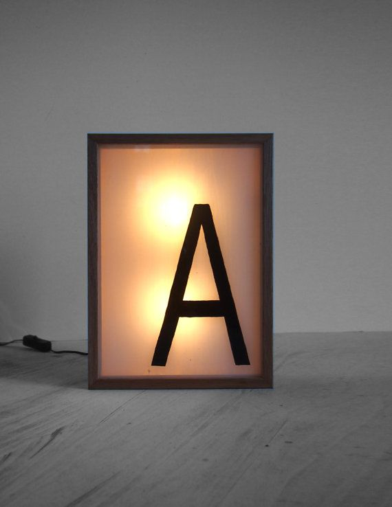 Light Box Hand Painted Name Initial A Lighted Sign / by Bingkai, $240.00