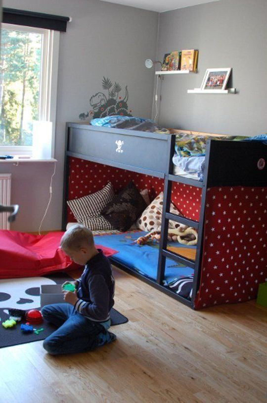 ikea kura wood bunk beds