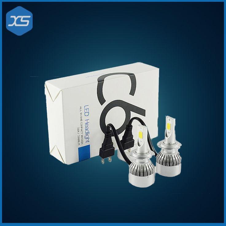 (26.26$)  Watch here  - 1 Set 36W 3800LM H7 COB LED Car Headlight Headlamp Auto Lamps LED 6000k Headlight Bulb Light H7 White,LED h7 Headlight Bulbs
