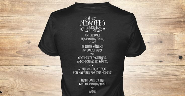 The role of a midwife is the difficult work of supporting a mother emotionally, spiritually, and physically. It takes focus. It takes diligence. It takes prayer. Support hardworking midwives everywhere with this limited edition midwife's prayer shirt. Check the drop down for all the TEE and HOODIE options. We also have a DOULA version here-->Doula Prayer Shirt