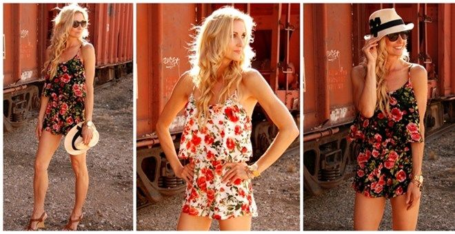 Bohemian cool and oh-so-sweet, this chic romper falls in line with the season's favorite modified-jumpsuit trend! Every girl needs the perfect romper for her upcoming summer vacay. Throw it on over your suit in the day to be a standout on the beach or dress it up with wedges and accessories for a night out on the town. Don't miss out on this summer stunner!SIZES small: 0-2medium: 4-6large: 8-10The model is 5'9 so the romper will be longer/shorter depending on your height.