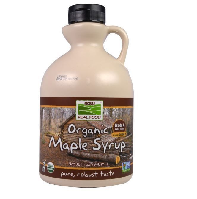 Real Food, Organic Maple Syrup, Grade A, Dark Color, 32 fl oz (946 ml) #nowfoods
