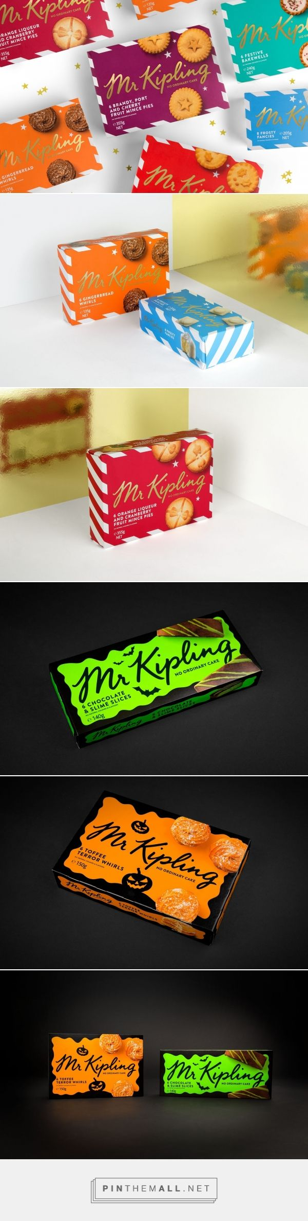 Mr Kipling Australia New Seasonal Range packaging design by Robot Food - http://www.packagingoftheworld.com/2017/10/mr-kipling-australia-new-seasonal-range.html