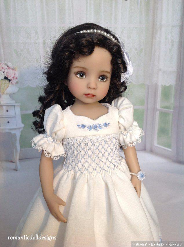 Голубые розы для маленького ангела / Одежда и обувь для кукол - своими руками и не только / Бэйбики. Куклы фото. Одежда для кукол