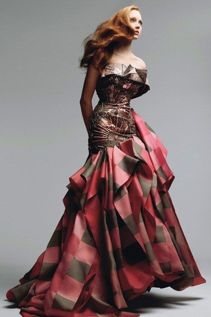 Vogue: July 2007 Lily Cole in a Dior Couture gown. Photo By Patrick Demarchelier