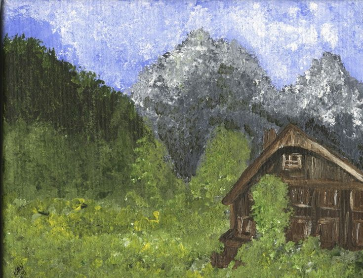 One of my paintings of Jungfrau. When I can't travel I'll paint something to make myself feel like I am there. And this is one of those paintings. The Alps sits high on my list of magical places. My Magical places: Confluence of the Colorado and Green, Mount Rainer, Makena Beach, and The Austrian Alps. All places I feel at peace. It is amazing how a place can make one feel small, quiet, and content.: Painting