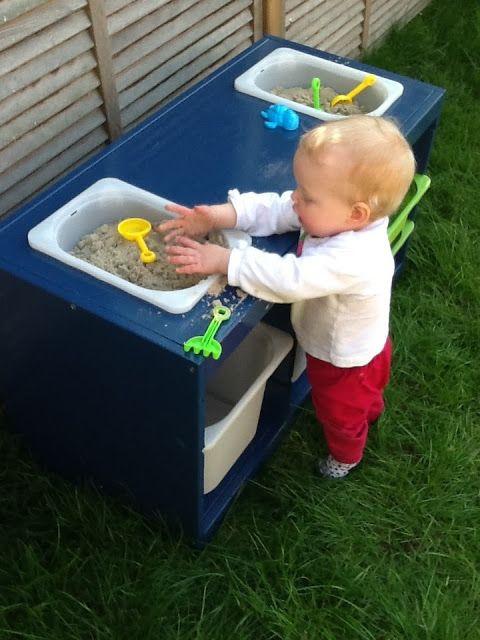 IKEA Hackers: Trofast sand and water table #summerfun #getoutsideandplay