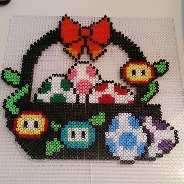 Super Mario Easter basket hama beads by parlfrugan