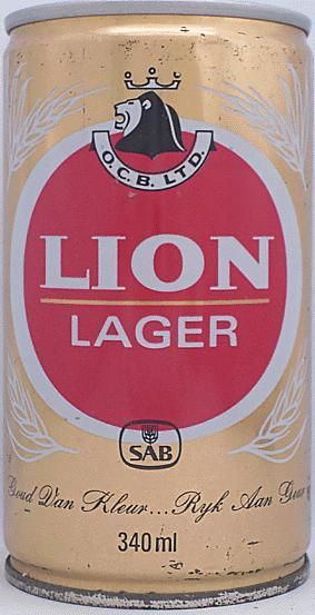 Lion Lager | South African Breweries - this was a firm favourite when we did our national service!