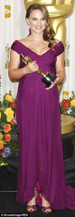A pregnant Natalie Portman was resplendent in purple Rodarte in 2011 when she picked up her Oscar for Black Swan.