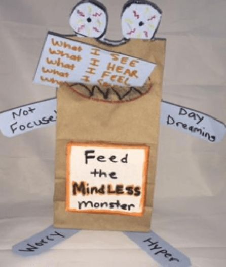 School Counseling Crafts: 5 ways to use lunch bags in school counseling for divorce, anger management, mindfulness, giving, and grief from Mental Fills.