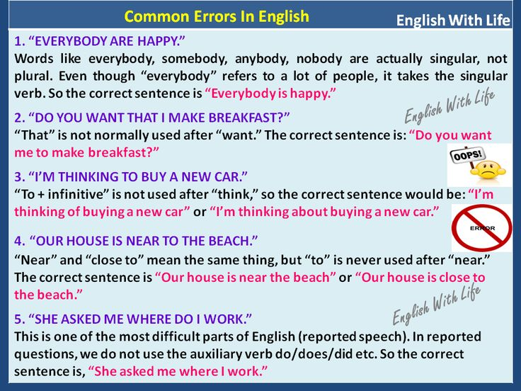 common mistakes in english 100 speaking mistakes you're most likely making as an english as a second language speaker everyone has their own ways of expression i believe we all have a lot.