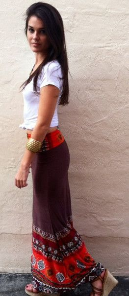 Vacation outfit That's Good Salsa Maxi Skirt