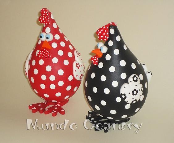 Tays Rocha: Novas galinhas ovais de cabaça e meu muito obrigada!