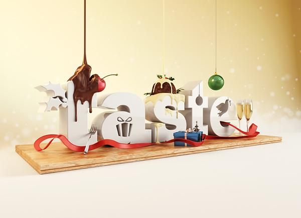 - 3D Typography by Chris LaBrooy  <3 <3
