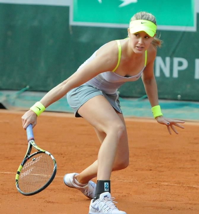 She is very beautiful and looks like a model. Here in this photo she is looking really awesome. Eugenie Bouchard is beautiful Canadian professional tennis star who is considered as one of the hottest young female tennis stars in the world. She already become top player at very young age.
