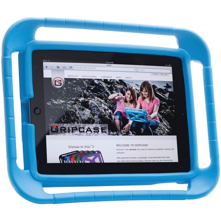 iPad with bumper protection :)  £33.22 http://childproofmytablet.com/gripcase-ipad-case/  #ipadcase #ipad #ipadprotection #gripcase #shockproof