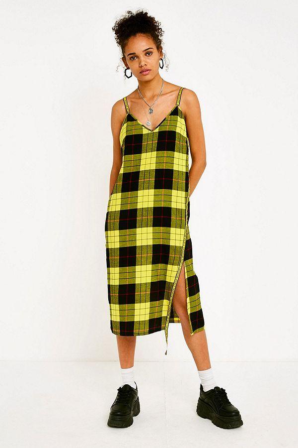 769628c1e85 Slide View  1  Cheap Monday Keep Yellow Tartan Check Dress