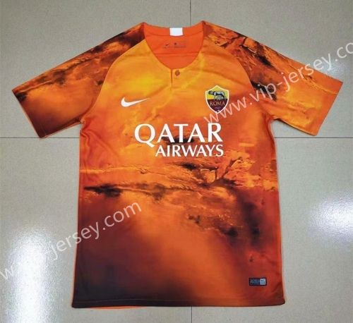 Limited Edition 2019-2020 Roma Orange Thailand Soccer Jersey
