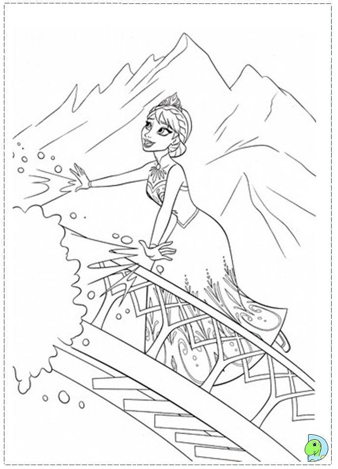 Walt Disney Coloring Pages Frozen : Elsa let it go worksheets coloring pages and school