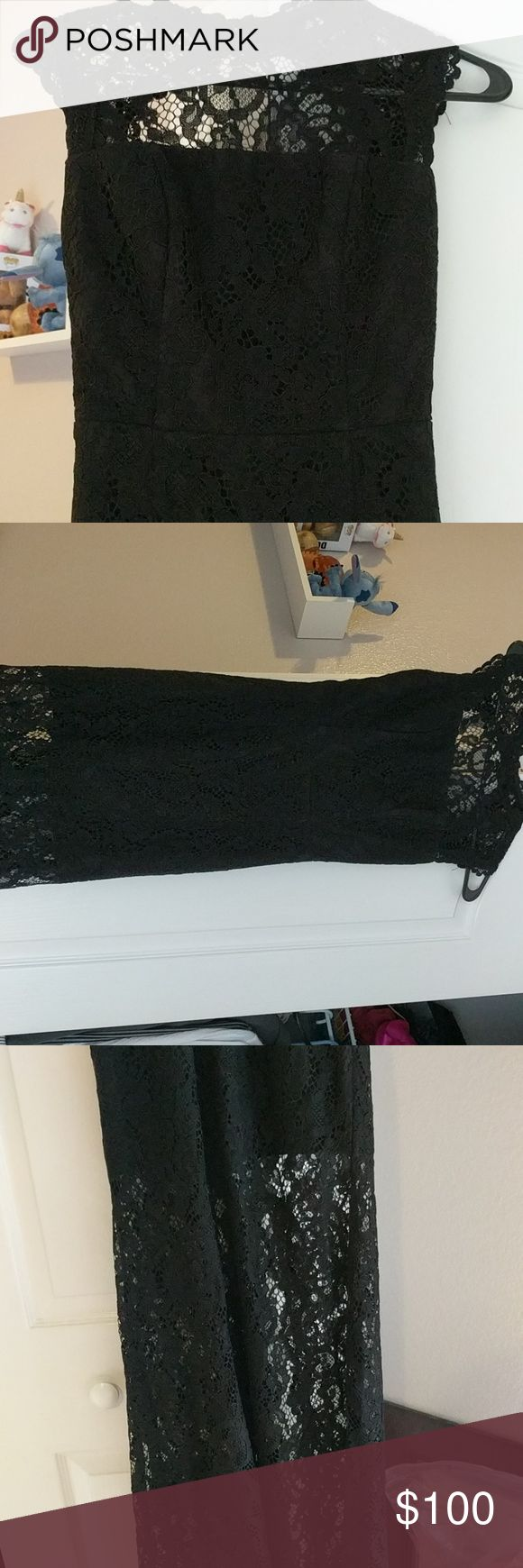 Jarlo London formal dress Long lace formal gown. High neck line, open back. Still has the tags. Size 6 ASOS Petite Dresses
