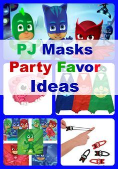 PJ Masks birthday party favors and ideas