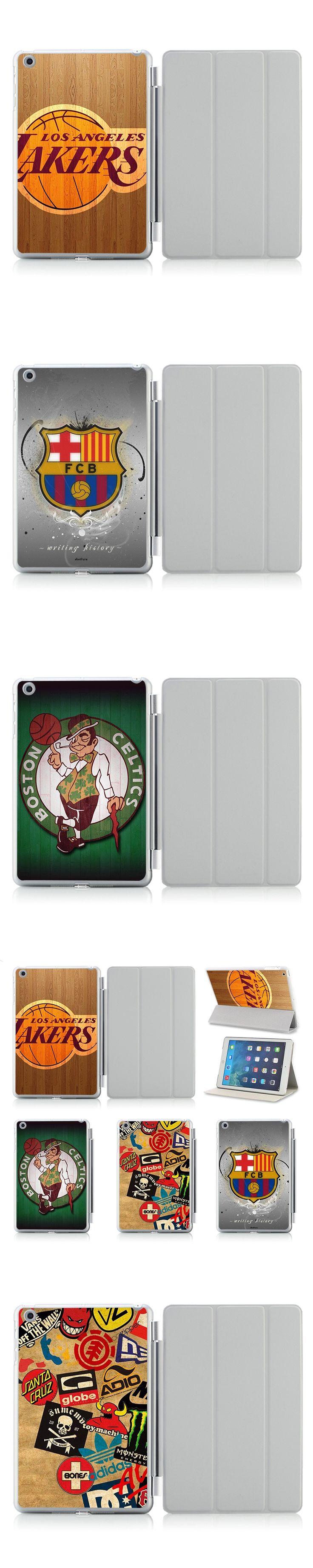 Printed NBA Football Team Logo PU Leather Case For Apple iPad Air 2 Flip Thin Smart Cover For ipad air Cases 5