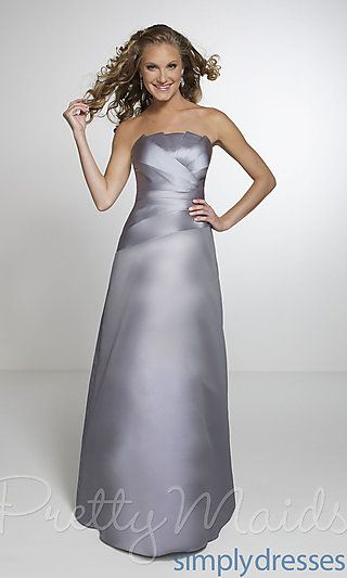 Elegant Strapless Bridesmaid Gown at SimplyDresses.com