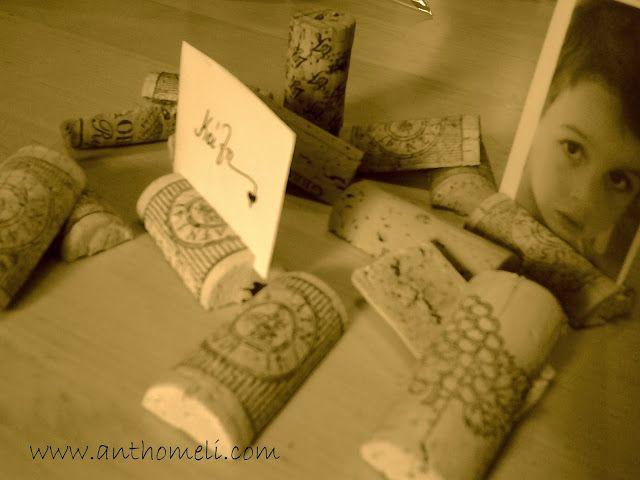 corks, art de la table, Ανθομέλι: Μια εορταστική ιδέα για το γιορτινό τραπέζι και ιδέα για δωράκι στους καλεσμένους σας