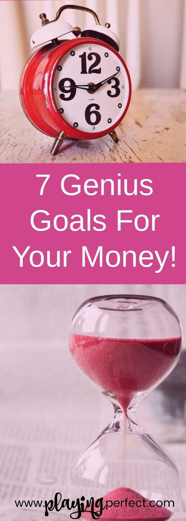 Just like most things in life, to get to where you want to go you need some goals to get you on your journey! Here are seven genius savings goals that will get you to your dreams! Spend your time and your money wisely with making the best savings goals ever! FREE printable!   playingperfect.com