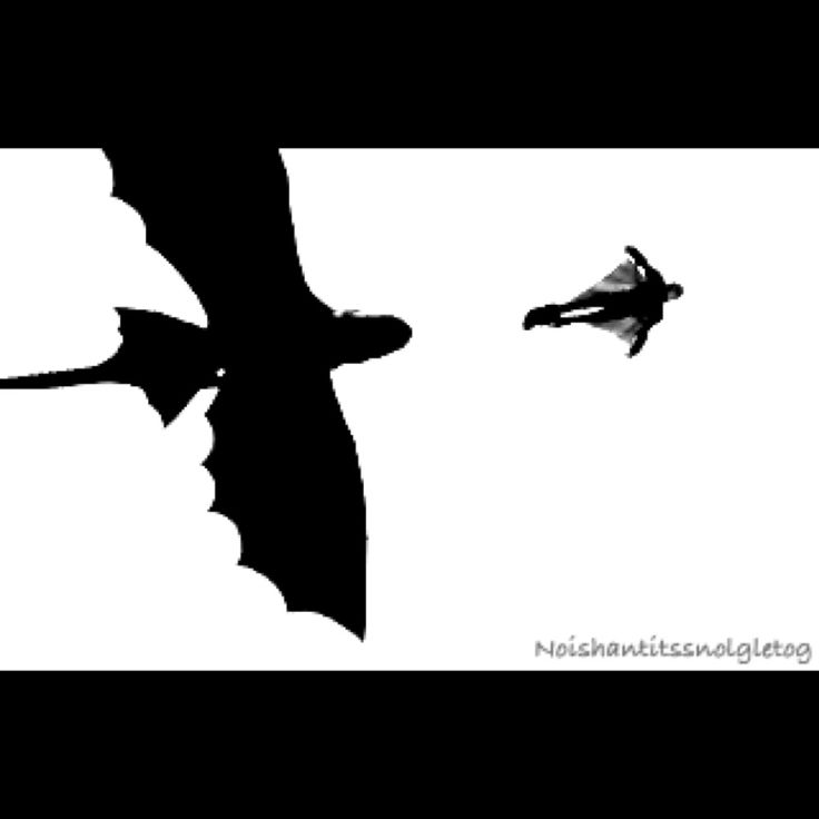 Toothless And Hiccup Silhouette | www.imgkid.com - The ...