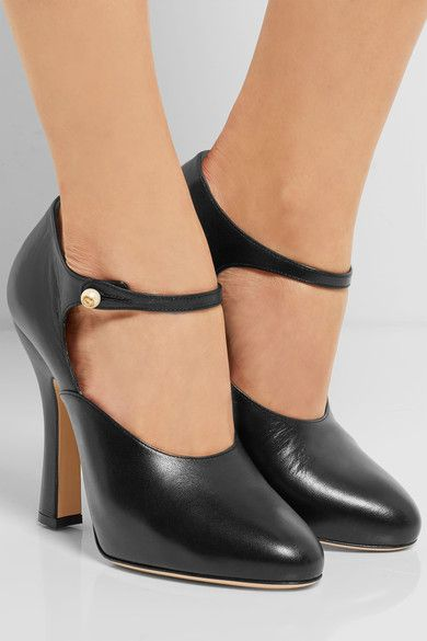 Gucci | Leather Mary Jane pumps | NET-A-PORTER.COM