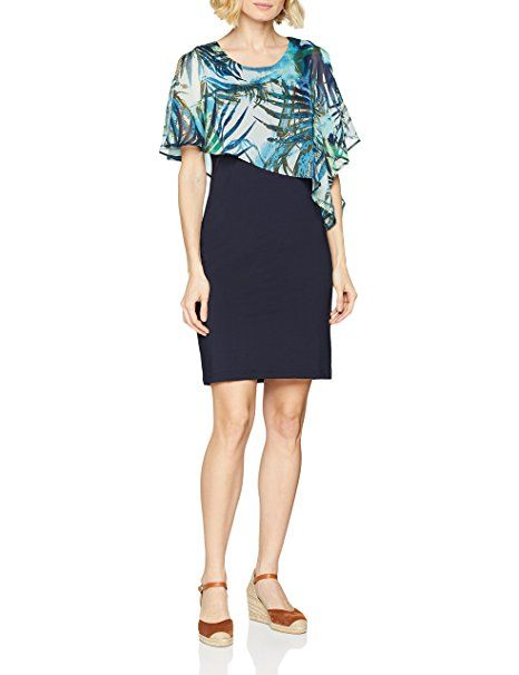 Betty Barclay Damen Kleid 6457 0795 Blau Dark Sky 8345 Sommer
