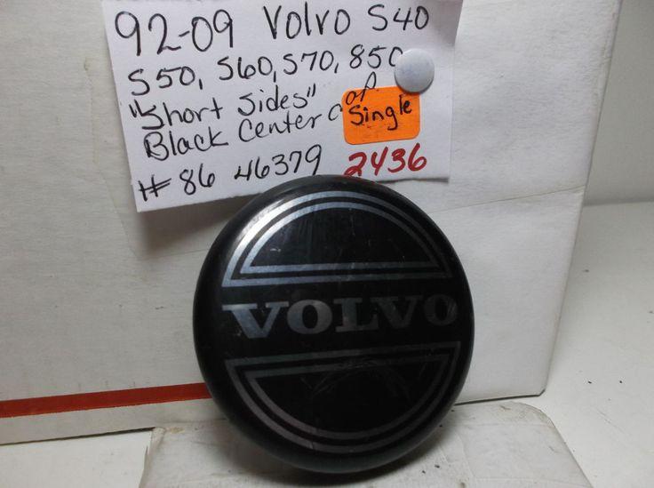 Volvo CENTERCAP S Series 850  Black-86 46379-wheel-cover-hub-2436 #VOLVOCENTERCAP