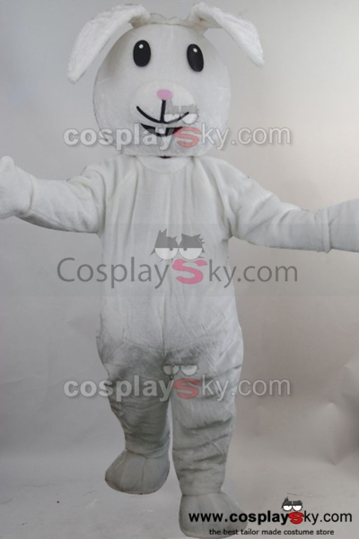 Lapin Blanc Mascotte Costume Taille D'adulte_2