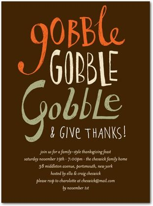 69 best Thanksgiving Invitations images on Pinterest Thanksgiving - invitation wording for christmas dinner party
