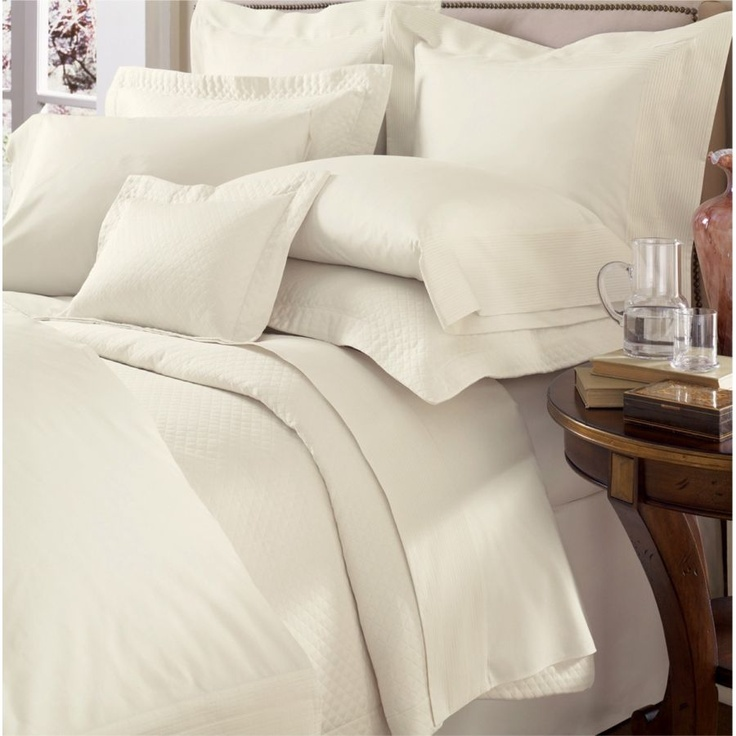 Best of Sferra Peyton Ivory Standard Pillowcases Pair Egyptian Cotton Percale Italy NEW Simple - Review b&b italia lunar sofa bed Style