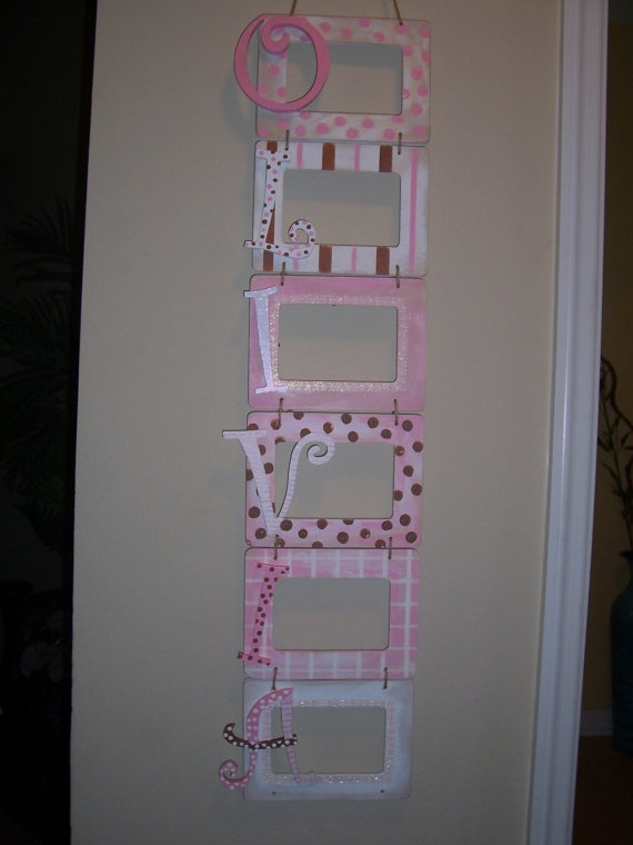 Personalized+Picture+Frame+by+theglitterymonkey+on+Etsy,+$50.00