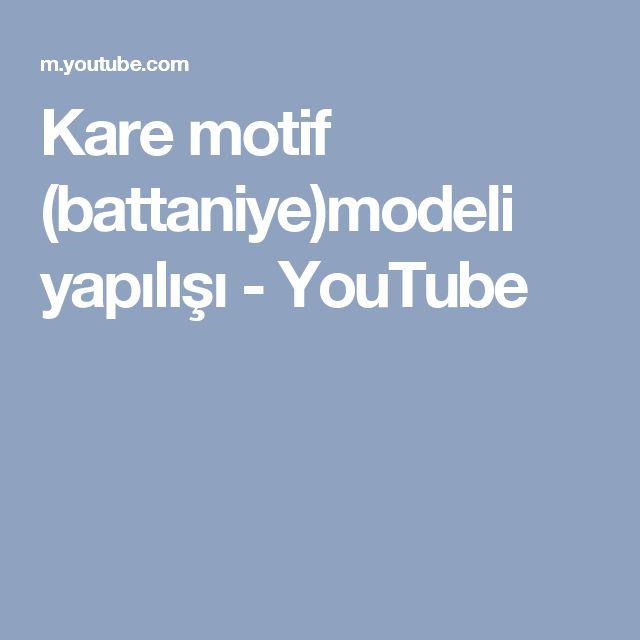 Kare motif (battaniye)modeli yapılışı - YouTube