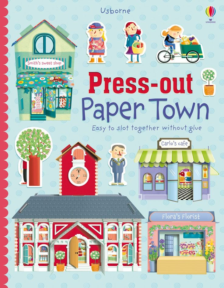 "Find out more about ""Press-out paper town"", write a review or buy online. 7+"
