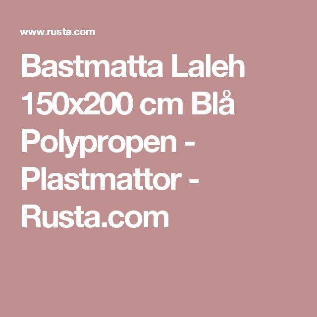 Bastmatta Laleh 150x200 cm Blå Polypropen - Plastmattor - Rusta.com