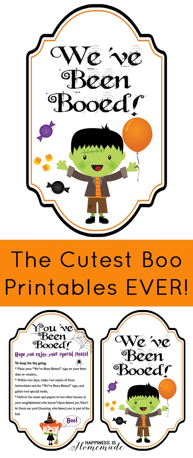 These are the cutest You've Been Booed printables EVER! Does your neighborhood boo each other at Halloween time? It's such a fun new tradition!