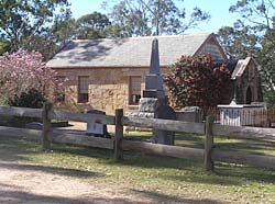 Ebenezer church, established in 1809. The oldest church in Australia. NSW History. PS