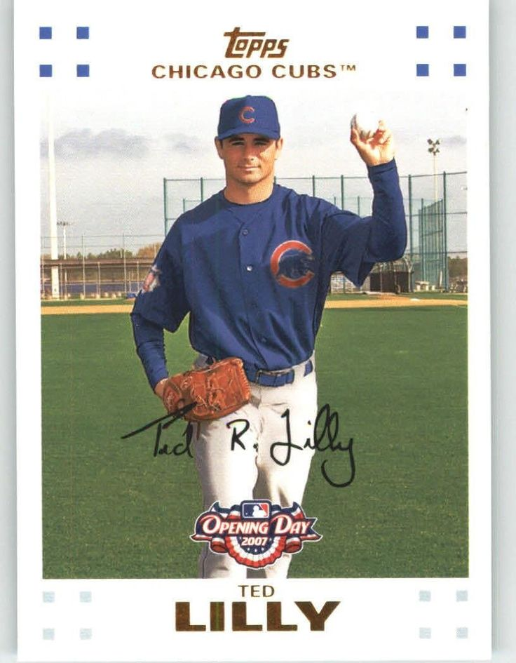 2007 Topps Opening Day 126 Ted Lilly - Chicago Cubs (Baseball Cards) -- To view further for this item, visit the image link.