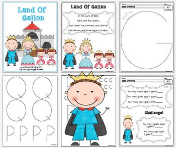 Here is a great land of gallon activity. You can use it as a cut and paste  or have the kids draw their own letters. They love it and the poem real...: Grade Math, Classroom Math, Schools Math, Land, Lessons Plans, Gallon Man, Kids, Teacher, Classroom Ideas