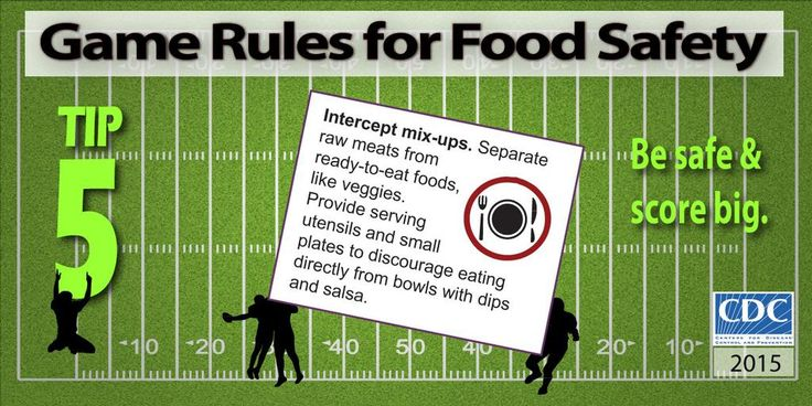 CDC on Food safety tips, Game day food